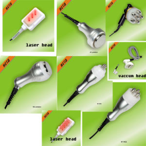 8 Inch Touch Screen Laser Slim Handle 5 Cavitation RF Head 1 Vacuum Roller Face Lifting Machine H-1003c pictures & photos