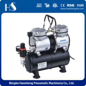 Mini Air Compressor Twin Cylinder with Tank AS196 pictures & photos