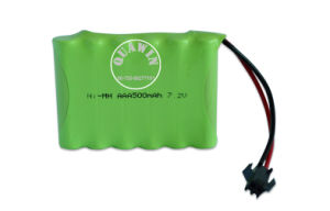 Rechargeable 7.2V 500mAh NiMH Battery for Toy pictures & photos