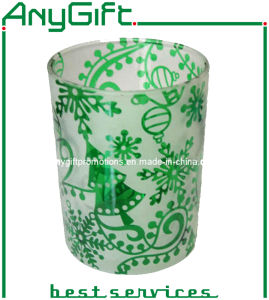 Christmas Glass Mug with Customized Logo pictures & photos