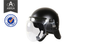 Security Military Army Black Multifunction Police Light Weight Anti Riot Helmet (RH-18B) pictures & photos