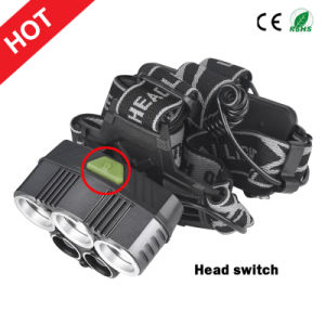 Newest Style 3xcree T6+2xq5 LED Headlamp USB Rechargeable Headlamp+2X18650 Batteries pictures & photos