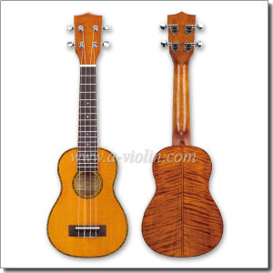 "21"" Solid Flamed Maple Color Soprano Ukulele (AU90AH-21) pictures & photos"