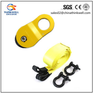 off-Road Recovery Kit Winch Snatch Block with Tow Strap pictures & photos