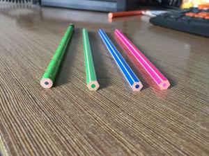 High Quality Plastic Round/Hexagon Hb Color Pencils pictures & photos