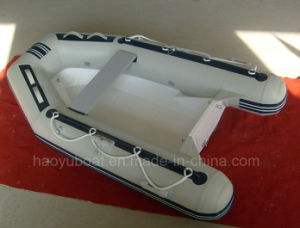 8.37feet 2.55m Fiberglass Hull Boat with CE Rib Boat with Outboard Motor Fishing Boat pictures & photos