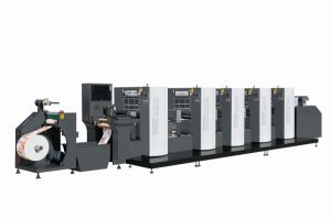 Wjps350d Shaftless Offset (Alcohol Dampening) Intermittent Rotary Label Printing Machine