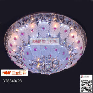 2015 New Model Glass Crystale LED Ceiling Lighting with RGB (YF6840/R8)