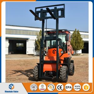 3m Rough Terrain Forklift with Tires Clamp pictures & photos