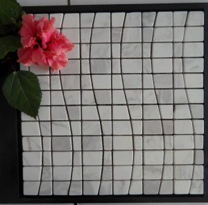 White Marble Trapezoidal Mosaic Tile pictures & photos