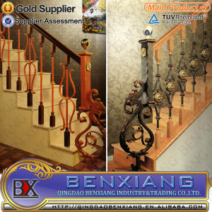Indoor Stair Railing/Iron Stair Balusters/Custom Wrought Iron Railings pictures & photos