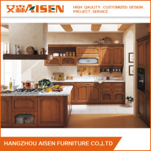 2016 Hot American Solid Wood Kitchen Cabinet with Island pictures & photos