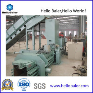 Horizontal Waste Paper Baler with Conveyor pictures & photos