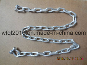 Galvanized Steel Anchor Lead Chain with Shackle pictures & photos