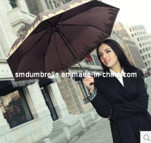 Cheap Sun Promotional Printed Outdoor 3 Foldable Umbrella
