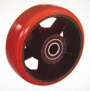 "4"" Wear-Resisting PU Single Wheel pictures & photos"