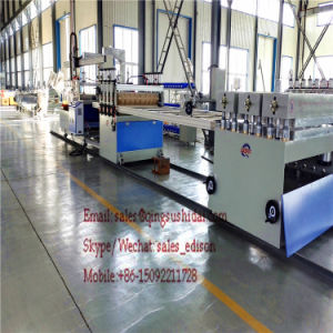 Wood Plastic Floor Machine PVC Indoor Floor Board Machine pictures & photos