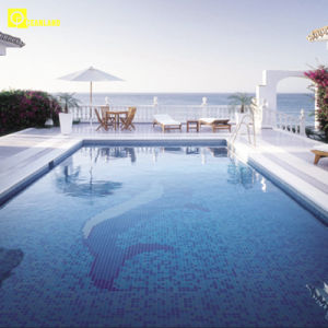 Porcelanato Ice Crack Swimming Pool Project Porcelain Mosaic Tiles pictures & photos
