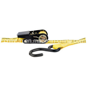 Professional Supplier of Ratchet Strap / Cargo Tie Down Strap with S Hook, Wll 500lb. /227kg