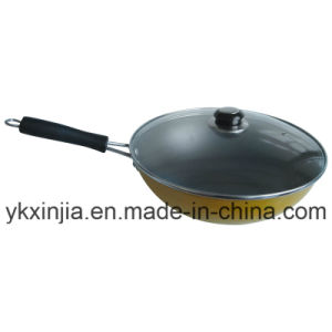 Kitchenware Aluminum Non-Stick Coating Wok with Lid Cookware pictures & photos