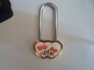 2015 Hot Sale Solid Elegant Brass Double Heart Padlock