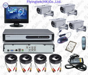 High Resolution 520TVL Camera DVR CCTV System (FQ04M10-A3105PF)