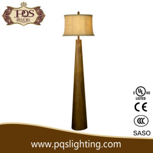 European Decoration Wood Sofa Side Floor Lamp
