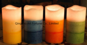 Flameless Layered Scented LED Wax Candle for Home Decor pictures & photos