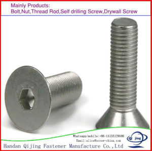 Hex Socket Countersunk Head Screw Stainless Steel, Black DIN7991 pictures & photos