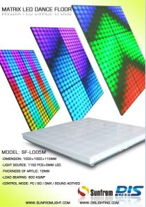 Hot Selling Acrylic LED Dance Floor Stage LED Screen Display pictures & photos