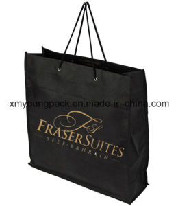 Eco Friendly Rope Handle Non-Woven Cloth Shopping Carrier Bag pictures & photos