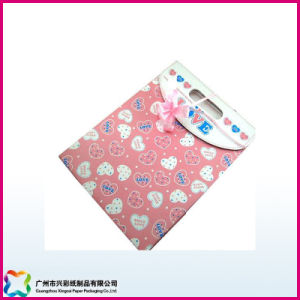 Colorful Printed Gift Packaging Paper Bag with Ribbon (XC-5-003) pictures & photos