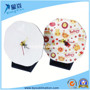 Hot Sale Sublimation MDF Clock for Desk pictures & photos