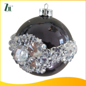 2016 Christmas Glass Ornament Ball with Diamond pictures & photos