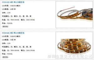 Decorative Colorful 3528SMD Waterproof RGB Flexible LED Strip