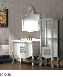 Classical Solid Wood Bathroom Vanity Ca-C436 pictures & photos