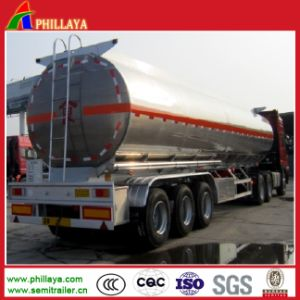 Fuel Stainless Steel Storagefu Tank with Truck Semi Trailer Chassis pictures & photos