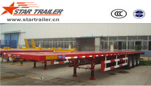 3 Axles Flat Bed Container Trailer pictures & photos