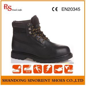 Black Action Leather Rubber Cement Japanese Work Boots RS216 pictures & photos