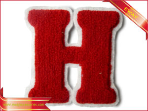 Flocking Embroidery Patch Garment Flocking Fabric Patch pictures & photos