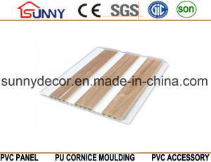 Wooden Color PVC Panel for Wall and Ceiling Use Hot-Stamping, Cielo Raso De PVC pictures & photos