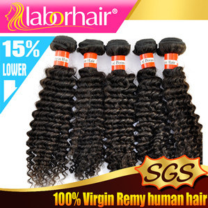 "Top Quality Peruvian Virgin Hair Extensions Kinky Curly 12"" pictures & photos"