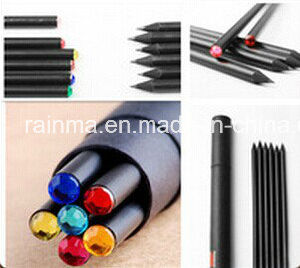 Black Wood Pencil with Diamond Crystal pictures & photos