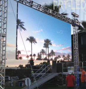 High Resolution Outdoor P4.81 Full Color Display Screen with 500X500mm/500X1000mm Panels pictures & photos