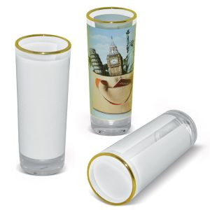 Sublimation Golden Rimmed Heat Press Sublimation Wine Glass pictures & photos