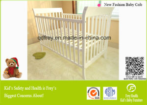 Fashion Solid Pine Wood America Style Baby Cot pictures & photos