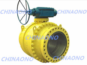High Pressure Big Size Gear Box Operation Stainless Steel Ball Valve pictures & photos