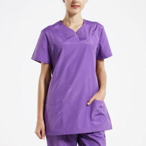 Stylish Design Nurse Uniform/Cotton White Medical Scrubs /Hospital Uniform pictures & photos