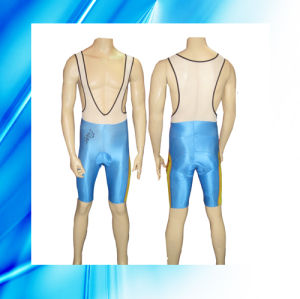 85% Polyester 15% Spandex Man′s Cycling Bib Shorts pictures & photos