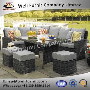 Well Furnir Corner Sofa Dining Table Rattan Garden Set pictures & photos